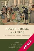 Cover of Power, Prose, and Purse: Law, Literature, and Economic Transformations (eBook)