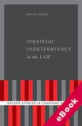 Cover of Strategic Indeterminacy in the Law (eBook)