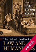 Cover of The Oxford Handbook of Law and Humanities (eBook)