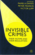 Cover of Invisible Crimes: Their Victims and Their Regulation