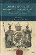 Cover of Law and Politics in British Colonial Thought: Transpositions of Empire