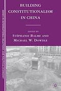 Cover of Building Constitutionalism in China