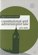 Cover of Palgrave Law Masters: Constitutional and Administrative Law