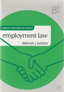 Cover of Palgrave Law Masters: Employment Law