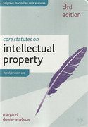 Cover of Core Statutes on Intellectual Property