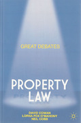 Cover of Great Debates in Property Law