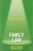 Cover of Great Debates in Family Law