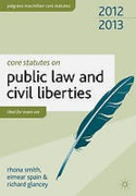 Cover of Core Statutes on Public Law & Civil Liberties 2012-2013