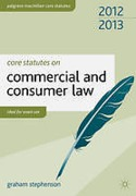 Cover of Core Statutes on Commercial and Consumer Law 2011-2012