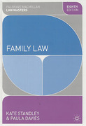 Cover of Palgrave Law Masters: Family Law