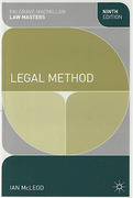 Cover of Palgrave Law Masters: Legal Method