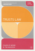 Cover of Palgrave Law Masters: Trusts Law