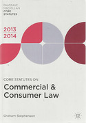 Cover of Core Statutes on Commercial and Consumer Law 2013-2014