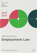 Cover of Core Statutes on Employment Law 2013-2014