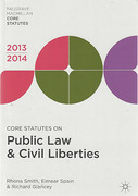 Cover of Core Statutes on Public Law & Civil Liberties 2013-2014