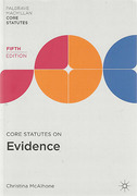 Cover of Core Statutes on Evidence