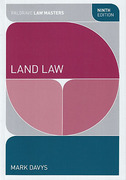 Cover of Palgrave Law Masters: Land Law