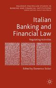 Cover of Italian Banking and Financial Law: Regulating Activities