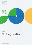 Cover of Core EU Legislation 2014-2015