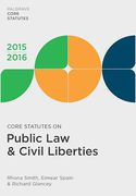 Cover of Core Statutes on Public Law & Civil Liberties 2015-2016