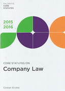 Cover of Core Statutes on Company Law 2015-2016
