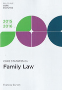 Cover of Core Statutes on Family Law 2015-2016