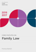 Cover of Core Statutes on Family Law 2016-2017