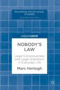Cover of Nobody's Law: Legal Consciousness and Legal Alienation in Everyday Life