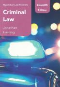 Cover of Macmillan Law Masters: Criminal Law