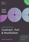 Cover of Core Statutes on Contract, Tort & Restitution 2019-20