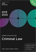 Cover of Core Statutes on Criminal Law 2019-20