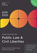 Cover of Core Statutes on Public Law & Civil Liberties 2019-20