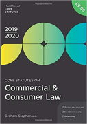 Cover of Core Statutes on Commercial & Consumer Law 2019-20