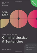 Cover of Core Statutes on Criminal Justice & Sentencing 2019-20