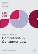 Cover of Core Statutes on Commercial and Consumer Law 2014-2015