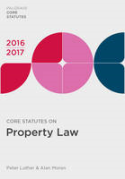 Cover of Core Statutes on Property Law 2016-2017
