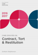 Cover of Core Statutes on Contract, Tort & Restitution 2016-2017