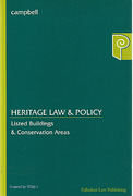 Cover of Heritage Law and Policy: Listed Buildings & Conservation Areas