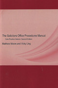Cover of The Solicitors Office Procedures Manual: Sole Practice Version