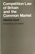 Cover of Competition Law of Britain and the Common Market