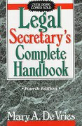 Cover of Legal Secretary's Complete Handbook