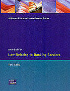 Cover of Law Relating to Banking Services