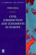 Cover of Civil Jurisdiction and Judgments in Europe