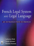 Cover of French Legal System and Legal Language