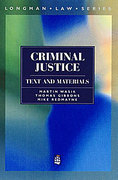 Cover of Criminal Justice: Text and Materials