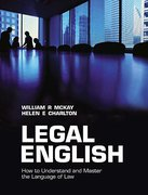 Cover of Legal English: How to Understand and Master the Language of Law