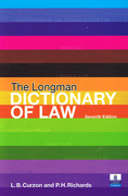 Cover of The Longman Dictionary of Law