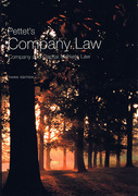 Cover of Pettet's Company Law: Company and Capital Markets Law