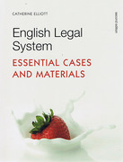 Cover of English Legal System: Essential Cases and Materials