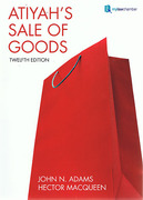 Cover of Atiyah's Sale of Goods